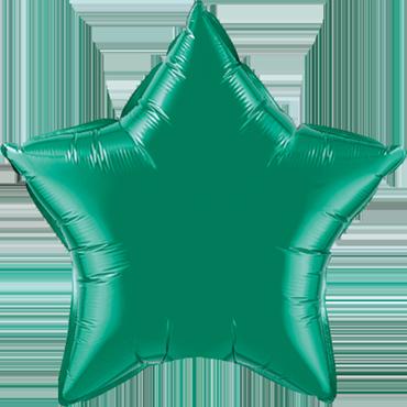 Emerald Green Foil Star 9in/22.5cm