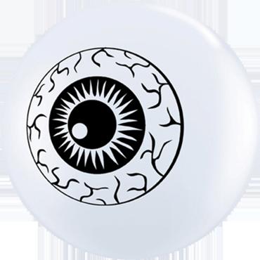 Eyeball TopPrint Standard White Latex Round 5in/12.5cm