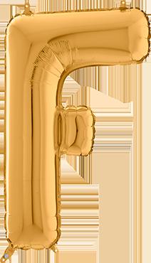F Gold Foil Letter 26in/66cm