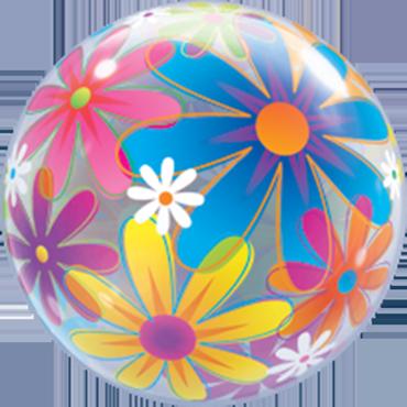 Fanciful Flowers Single Bubble 22in/55cm