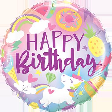 Fantastical Fun Birthday Foil Round 18in/45cm