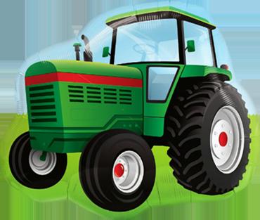 Farm Tractor Foil Shape 34in/85cm