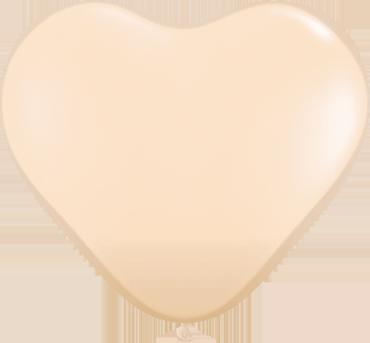 Fashion Blush Latex Heart 6in/15cm