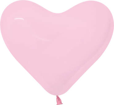 Fashion Bubblegum Pink Latex Heart 11in/27.5cm