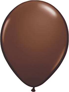 Fashion Chocolate Brown Latex Round 11in/27.5cm