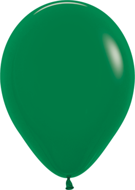 Fashion Forest Green Latex Round 5in/12.5cm