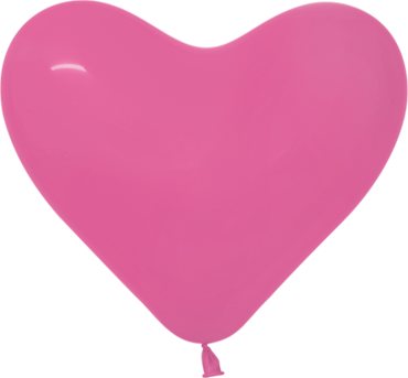 Fashion Fuchsia Latex Heart 6in/15cm