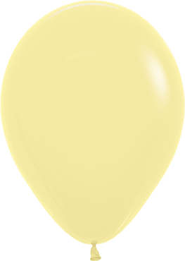 Fashion Light Yellow Latex Round 11in/27.5cm