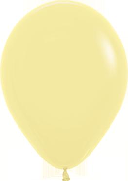 Fashion Light Yellow Latex Round 5in/12.5cm
