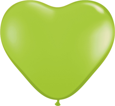 Fashion Lime Green Latex Heart 6in/15cm