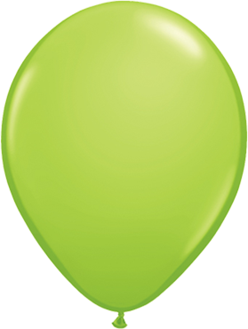 Fashion Lime Green Latex Round 16in/40cm