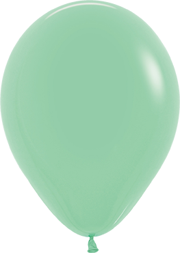 Fashion Mint Green Latex Round 11in/27.5cm