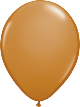 Fashion Mocha Brown Latex Round 16in/40cm