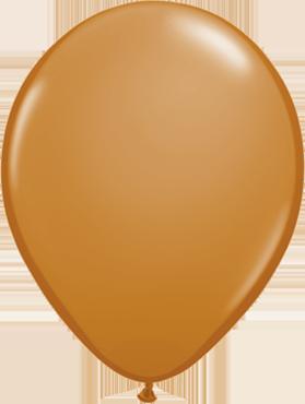Fashion Mocha Brown Latex Round 16in/40cm
