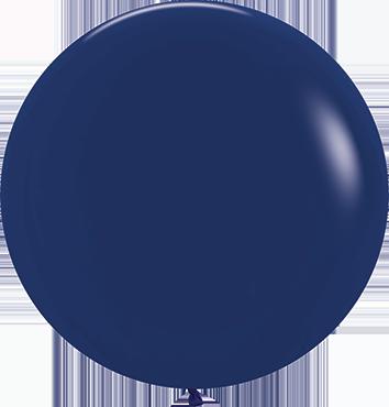 Fashion Navy Blue Latex Round 24in/60cm