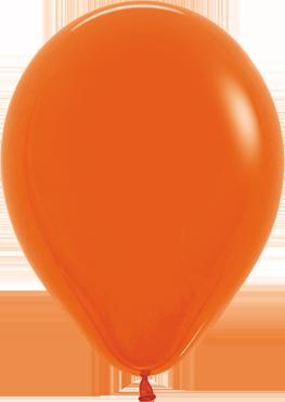 Fashion Orange Latex Round 11in/27.5cm