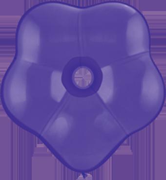 Fashion Purple Violet GEO Blossom 6in/15cm