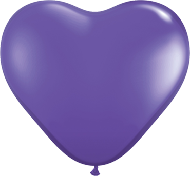 Fashion Purple Violet Latex Heart 6in/15cm