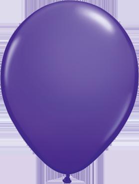 Fashion Purple Violet Latex Round 11in/27.5cm