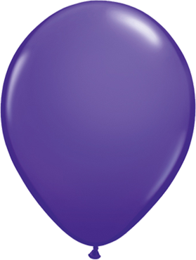 Fashion Purple Violet Latex Round 16in/40cm