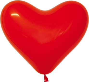 Fashion Red Latex Heart 16in/40cm