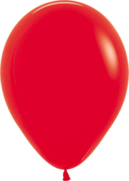 Fashion Red Latex Round 5in/12.5cm