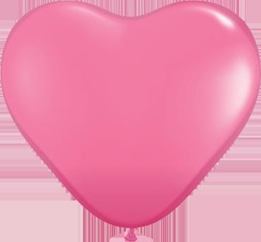 Fashion Rose Latex Heart 6in/15cm