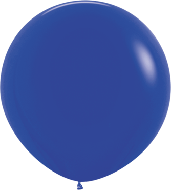 Fashion Royal Blue Latex Round 24in/60cm