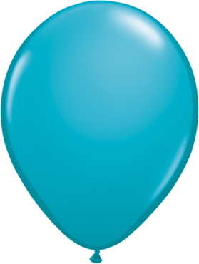 Fashion Tropical Teal Latex Round 16in/40cm