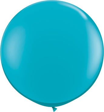 Fashion Tropical Teal Latex Round 36in/90cm