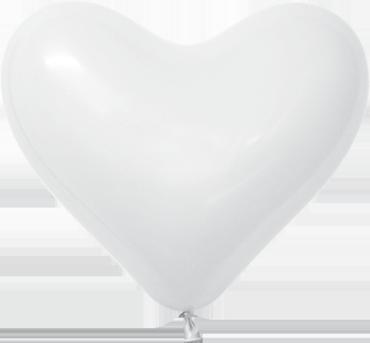 Fashion White Latex Heart 6in/15cm