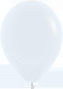 Fashion White Latex Round 5in/12.5cm