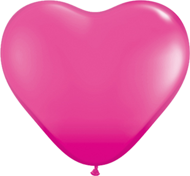 Fashion Wild Berry Latex Heart 6in/15cm