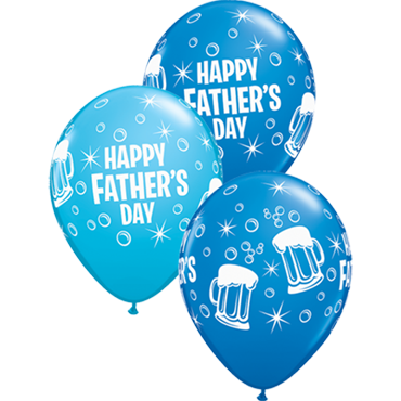 Father's Day Beer Mug Standard Dark Blue and Fashion Robins Egg Blue Assortment Latex Round 11in/27.5cm