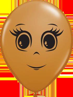 Feminine Face Fashion Mocha Brown Latex Round 16in/40cm