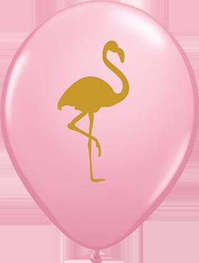 Flamingo Pink Latex Round 11in/27.5cm