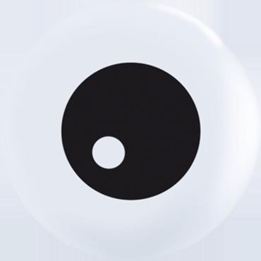 Friendly Eyeball TopPrint Standard White Latex Round 5in/12.5cm