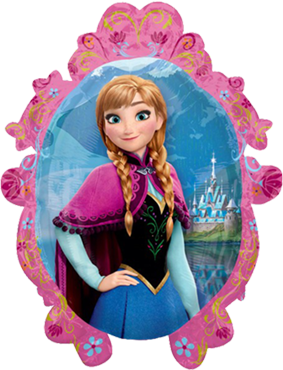 Frozen - Anna/Elsa Vendor Foil Shape 20in/51cm x 27in/69cm