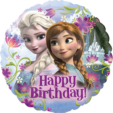 Frozen Happy Birthday Foil Round 18in/45cm