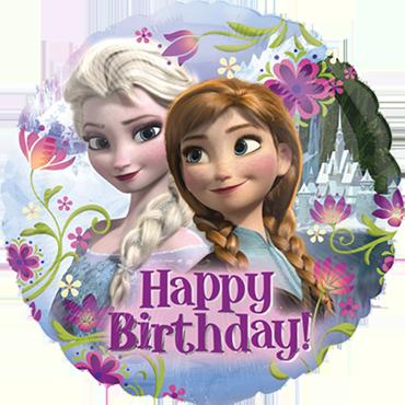 Frozen Happy Birthday Foil Round 18in/45cm
