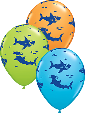 FUN SHARKS! Fun Sharks! Special Assortment Latex Round 11in/27.5cm