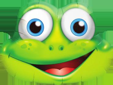 Funny Frog Foil Shape 32in/71cm