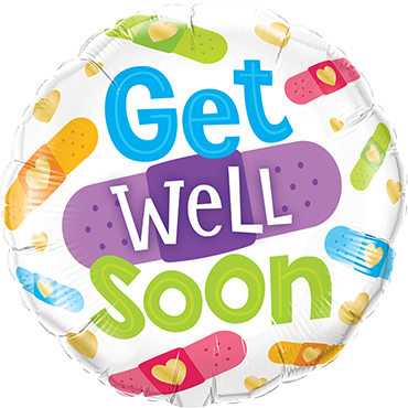 Get Well Soon Bandages Foil Round 18in/45cm