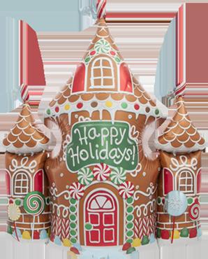 Gingerbread House Foil Shape 33in/84cm