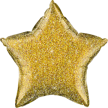Glittergraphic Gold Foil Star 20in/50cm
