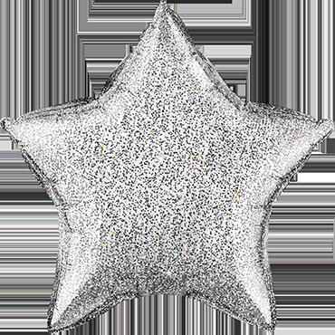 Glittergraphic Silver Foil Star 20in/50cm