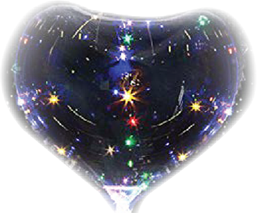 Globus/Bobo Balloon Clear (Transparent) Heart 18in/45cm
