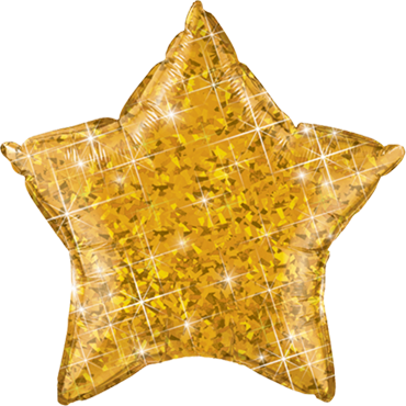 Gold Holographic Foil Star 20in/50cm