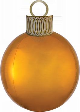 Gold Ornament XL Orbz 15in/38cm x 16in/40cm