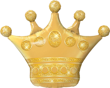 Golden Crown Foil Shape 41in/104cm
